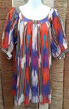 FRENCH CONNECTION Ladies Short Sleeve Cotton Blouse Top Size 10