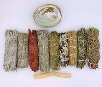 Set of 11: Smudge Kit - White, Blue, Red, Black, Cedar, Desert, Yerba, Juniper