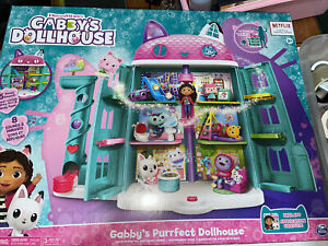 NEW Gabby's Purrfect Dollhouse 3 Room Sets And 3 Figures Sets