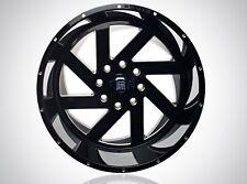 BRUTE REAPER WHEELS 22x12 Gloss Black Milled 6x5.5 -44 offset 78.1 CB Chevy GMC