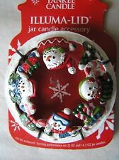 Yankee Candle Frosted Snowman Illuma Lid Topper Free Shipping New on Card
