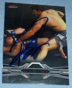 Ryan Bader Signed UFC 2013 Topps Finest Card #28 PSA/DNA COA Autograph 174 144