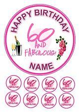 """8 Cupcake Toppers Bébé éléphant Cake Topper Rond Comestible Glaçage Glaçage 7.5/"""""""