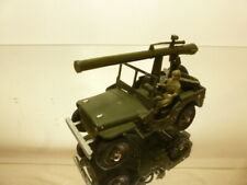 DINKY TOYS 80B WILLY's JEEP + GUN - ARMY GREEN 1:43 - GOOD CONDITION
