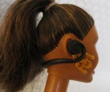 BLACK Headset/Headphones/Microphone Ken Skipper Barbie Doll Music IN EAR