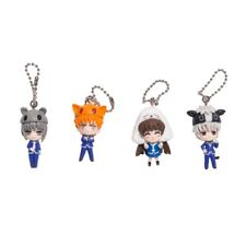 4 Keychain lot set Back To School Fruits Basket Anime Figure Takara Tomy Arts