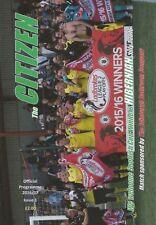 Hibernian Home Team Pre-Season/Friendly Football Programmes