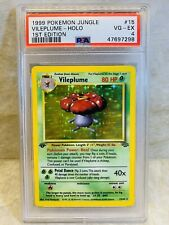 1999 Pokemon Jungle WOTC 1st Edition Holo Vileplume #15 PSA 4 VG-EX Like CGC