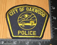 City of Oakwood Ohio Police Department Cloth Patch Only