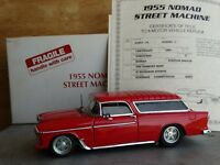 Danbury Mint 1955 Chevy Nomad Street Machine Red Bel Air 1:24 Scale Diecast Car