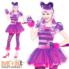 Cheshire Cat Girls Fancy Dress Animal Book Day Week Childs Teens Costume Outfit