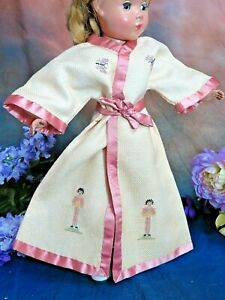 """ANTIQUE Doll clothes KIMONO robe JACKET for GERMAN BISQUE petite point fit14-16"""""""