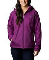Columbia Women's Switchback Sherpa-Lined Rain Jacket, Purple, Size XS, $100, NwT