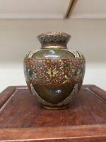 Fine antique Japanese mininature lidded cloisonne Jar Meiji Period.
