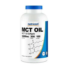 Nutricost MCT Oil Softgels 1000mg, 300 Softgels - Great for Keto Diet
