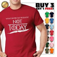 Game of Thrones Arya Stark Not Today Unisex Black T Shirt FREE Ship New