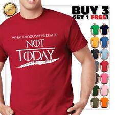 Game of Thrones Arya Stark Not Today Unisex Black T Shirt FREE Ship New