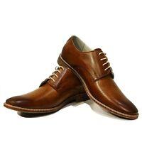 Modello Malato - Handmade Colorful Italian Leather Oxford Dress Shoes Brown