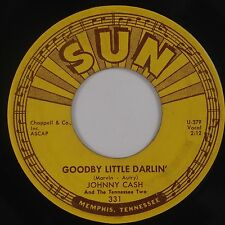 JOHNNY CASH: Goodbye Little Darlin USA Rockabilly SUN 331 Orig 45 Hear