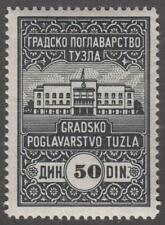Yugoslavia Tuzla Municipal Revenue Barefoot #8 MNH 50D black 1939 cv $12
