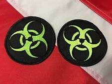 "Biohazard morale Patch novelty fun 3""circle Black outside  survival #737 uget 2"