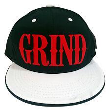 GRIND BLACK/WHITE FLOCK Snapback Cap