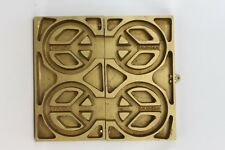 Peace Sign Mold heavy metal for candles candy chocolate casting mid century era