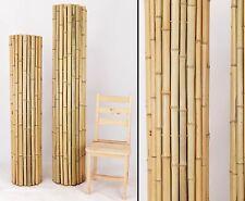 Bambusmatte Roll Zaun mit 150x200cm aus Moso Bambusrohren 3,5 bis 5cm naturbelas