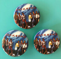 Jacksons 1984 Victory Tour set of 3 Pins RARE VINTAGE