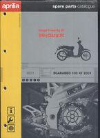 Aprilia Scarabeo 100 4T (2001 >) NOS Genuine Parts List Catalog Book Manual BT99