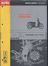 NOS Genuine Aprilia Scarabeo 100 4T (2001->) Parts List Catalog Book Manual AB12