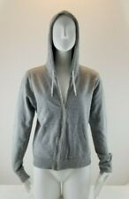 H&M Divided Full Zip Up Hoodie Sweater Women Size 12 (Large) gray light weight