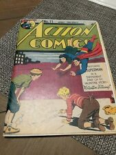 Action Comics #71 (Missing cover) RARE  D.C. Comics! WOW!