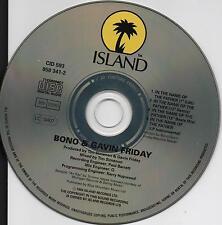 U2 BONO & GAVIN FRIDAY RARE CD IN THE NAME OF THE FATHER