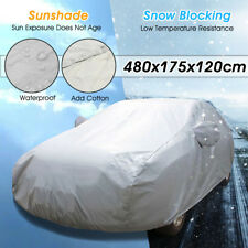 Universal Full Car Cover Cotton Waterproof Breathable Dust Rain UV Snow