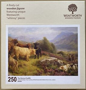 """WENTWORTH """"The Glorious Twelfth"""" 250 piece Wooden JIGSAW PUZZLE Whimsy"""