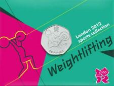 2011 London 2012 Sports Olympic 50p coin Card Auction - 27 WEIGHTLIFTING