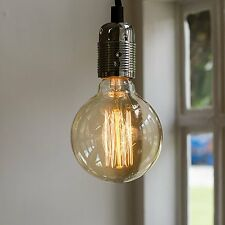 Globe Industrial Edison Vintage Retro Style Cage Decorative Light Bulb