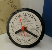 *new* THE MISSION CLOCK -VINYL RECORD SINGLE  DESK / TABLE TOP DESIGN + STAND