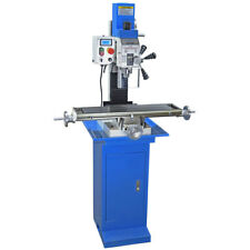 PM-25MV VERTICAL BENCH TOP MILLING MACHINE & STAND VARABLE SPEED FREE SHIPPING!