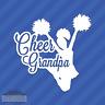 Cheer Grandpa Vinyl Decal Sticker Cheerleading Squad