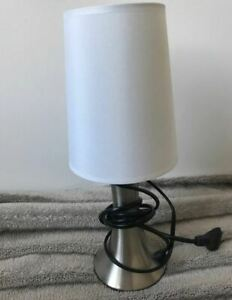 White Bedside Lamp Used