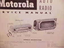 1953 DODGE CORONET CONVERTIBLE MEADOWBROOK MOTOROLA AM RADIO SERVICE SHOP MANUAL