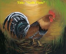 """""""Rooster"""" Oil painting 18""""x 12"""" Signed by Artist. Buy 1 get 2nd 20% reduce"""