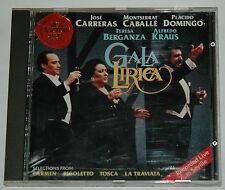 CD/GALA LIRICA/CARRERAS/CABALLE/DOMINGO/BERGANZA/KRAUS/RCA RD 61191