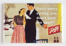 Schlitz Beer FRIDGE MAGNET (2.5 x 3.5 inches) sign humor bottle label alcohol