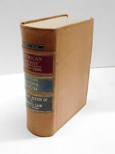 American Law Digest 1658 to 1896 Century Edition Vol. 14 Decorative Leather