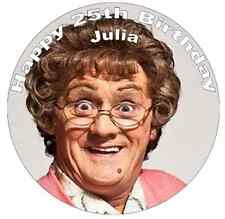 """Mrs Browns Boys Personalised Cake Topper 7.5"""" Edible Wafer Paper"""