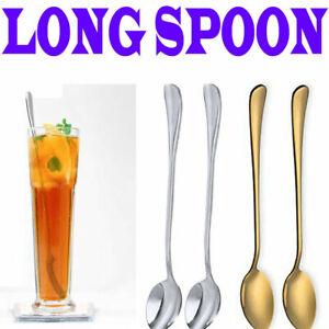 Long Handle Teaspoon Ice Cream Coffee Spoon Dessert Stainless Steel Everyday Use