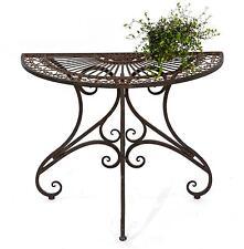 table Table de mur VIGO 19511 Table d'appoint en métal 90 cm Demi-cercle console